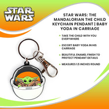 Load image into Gallery viewer, The Mandalorian The Child Keychain Pendant | Baby Yoda In Carriage