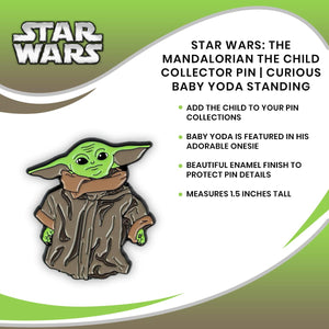 The Mandalorian The Child Collector Pin | Curious Baby Yoda Standing