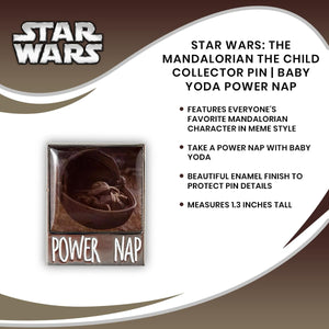 Star Wars: The Mandalorian The Child Collector Pin | Baby Yoda Power Nap