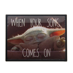 Star Wars Mandalorian The Child Baby Yoda Collector Pin When Your Song Comes On