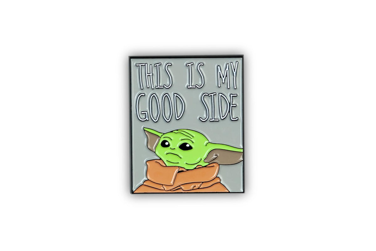 Star Wars Mandalorian The Child Baby Yoda Collector Pin | This Is My Good Side