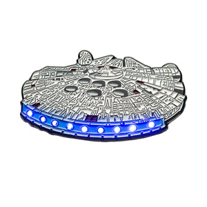 Star Wars Millennium Falcon Light Up Enamel Pin