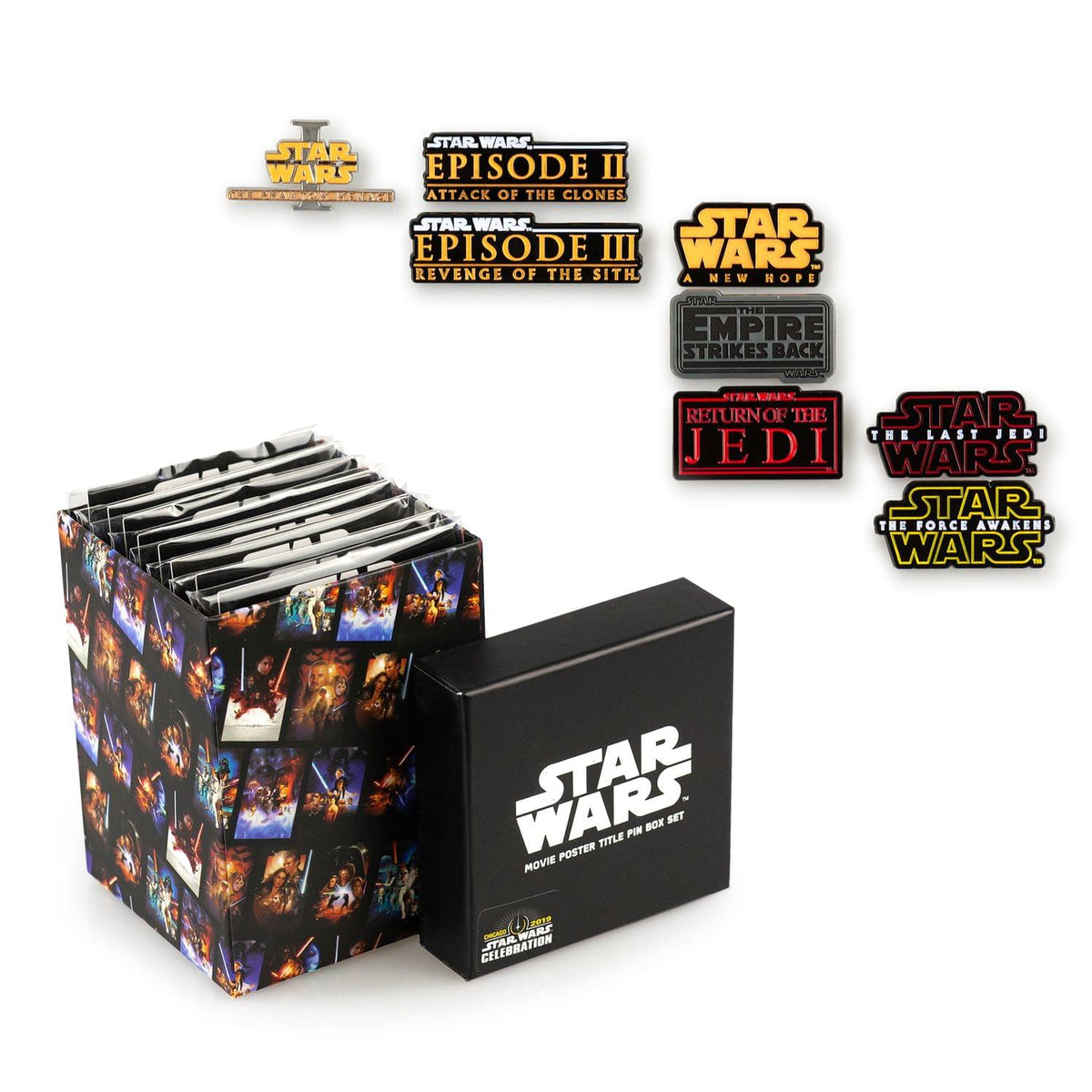 Star Wars Movie Title Pin Collection | Exclusive Poster Title Pin From Each Film