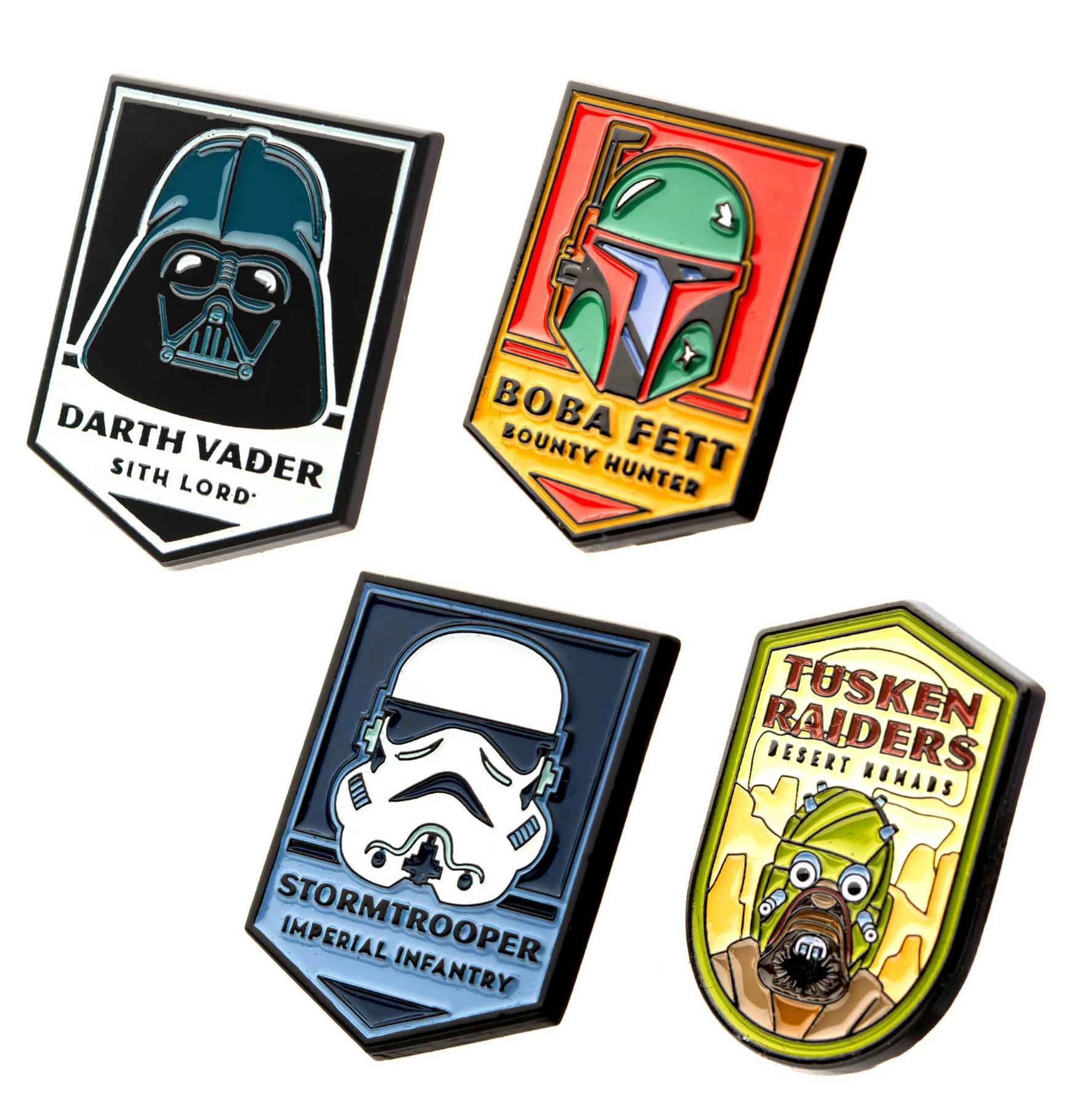 Star Wars Dark Side Enamel Pins | Set of 4