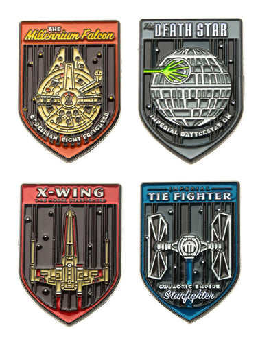 Star Wars Spaceships Enamel Pins | Set of 4