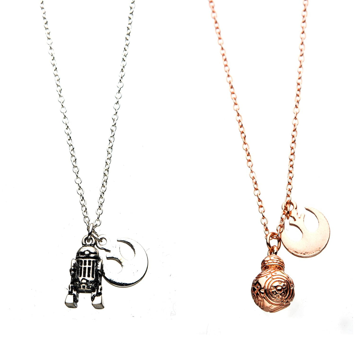 Star Wars R2D2 and BB8 Best Friends Forever Necklace Set