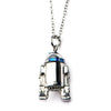 Star Wars R2-D2 Spinng Head Stainless Steel Pendant Necklace