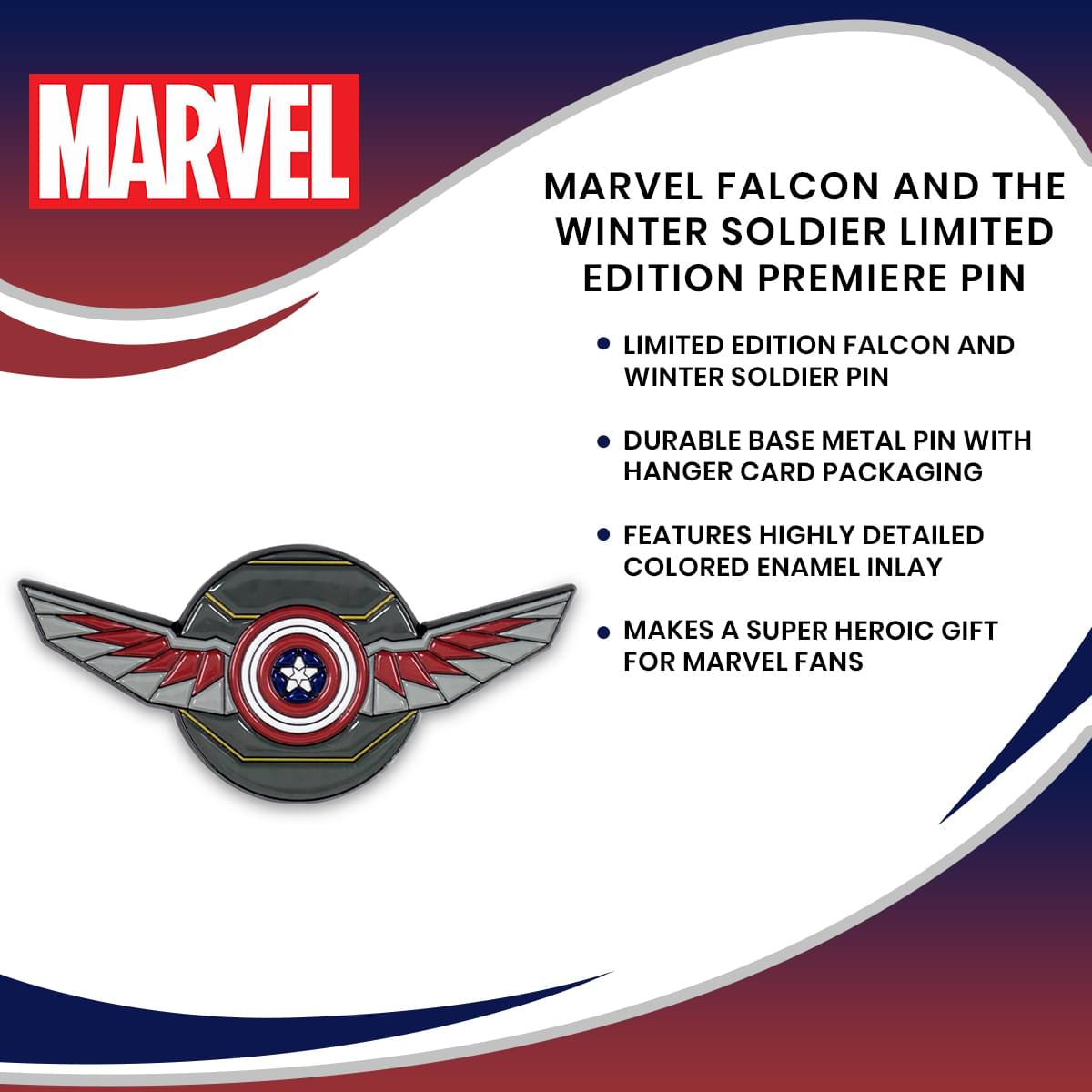 Marvel Falcon And The Winter Soldier Limited Edition Premiere Pin