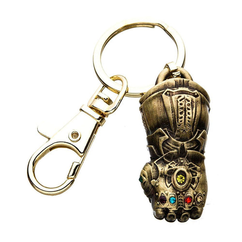 Marvel Avengers Infinity War Thanos' Infinity Gauntlet 3D Metal Key Chain