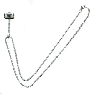 Marvel Thor Hammer Stainless Steel Pendant Necklace with Chain