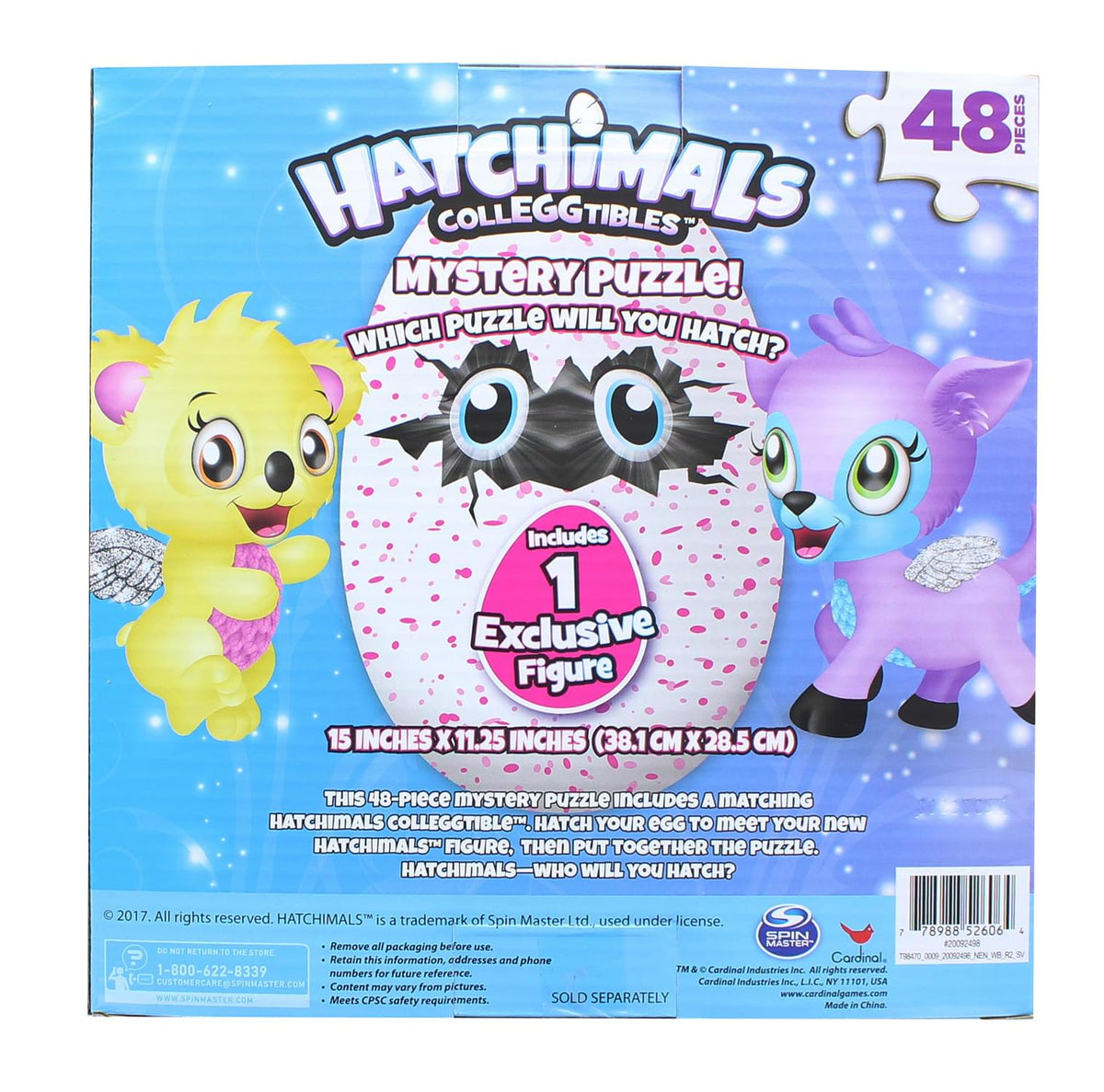 Hatchimals 48 Piece Mystery Jigsaw Puzzle w/ Orange Egg Exclusive Figure