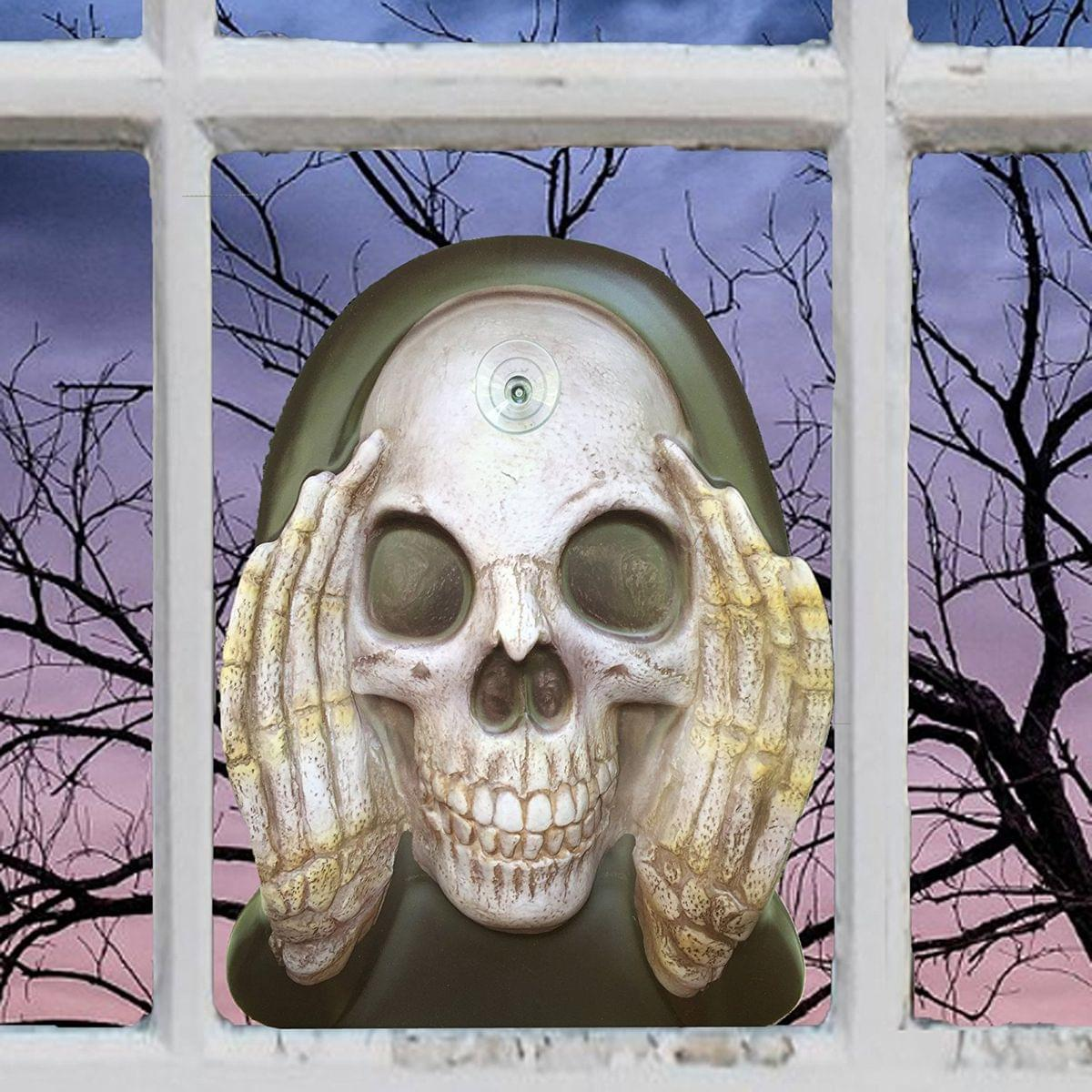Scary Peeper Reaper Window Cling Halloween Decoration