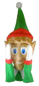 Scary Peeper Santa's Helper Christmas Decoration