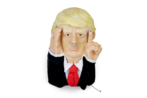 Scary Peeper Tapping President Donald Trump Halloween Decoration | 16.5 Inches
