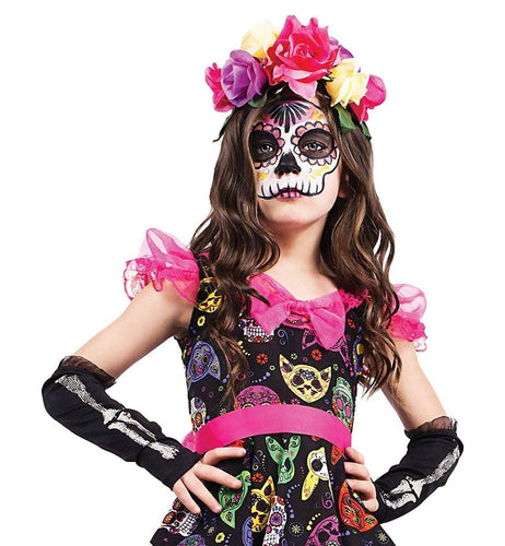 Day of The Dead Adult Costume Flower Headpiece