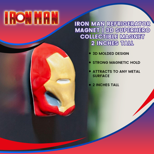 Iron Man Refrigerator Magnet | 3D Superhero Collectible Magnet | 2 Inches Tall