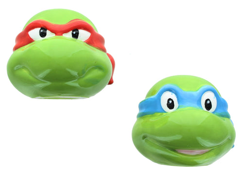 Teenage Mutant Ninja Turtles Leo and Raph Ceramic Salt & Pepper Shaker Set