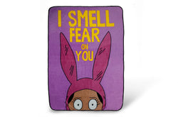 Bobs Burgers Louise I Smell Fear On You  64 x 44 Inch Fleece Throw Blanket