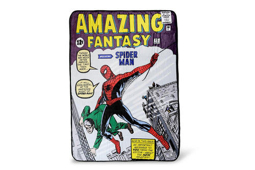 Marvel Spider-Man Amazing Fantasy No. 15 Fleece Throw Blanket | 60 x 45 Inches