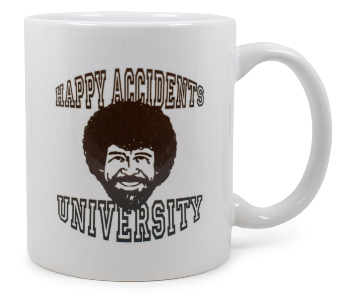 "Bob Ross ""Happy Accidents University"" Ceramic Mug 