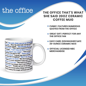 The Office That's What She Said 20oz Ceramic Coffee Mug