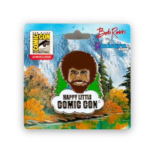 Bob Ross Collectibles Happy Little Comic Con Enamel Collector Pin