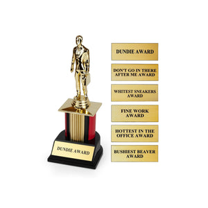 The Office Dundie Award Replica With 6 Interchangeable Plates | 8 Inches Tall