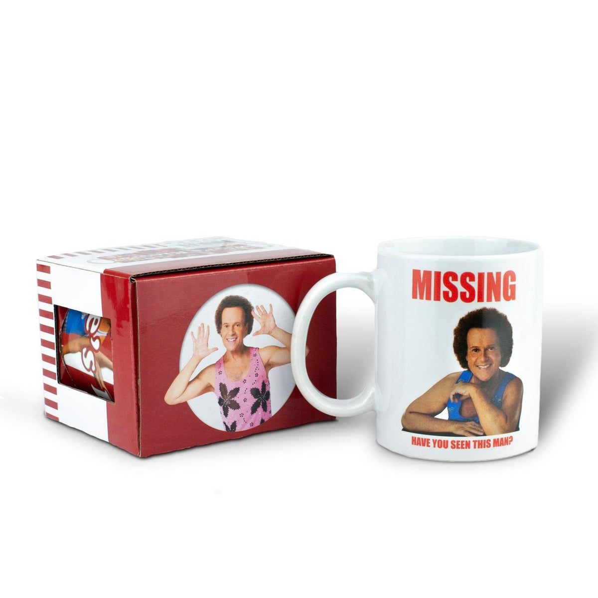 Richard Simmons Costume | Richard Simmons Have You Seen This Man Mug | 11 Ounces