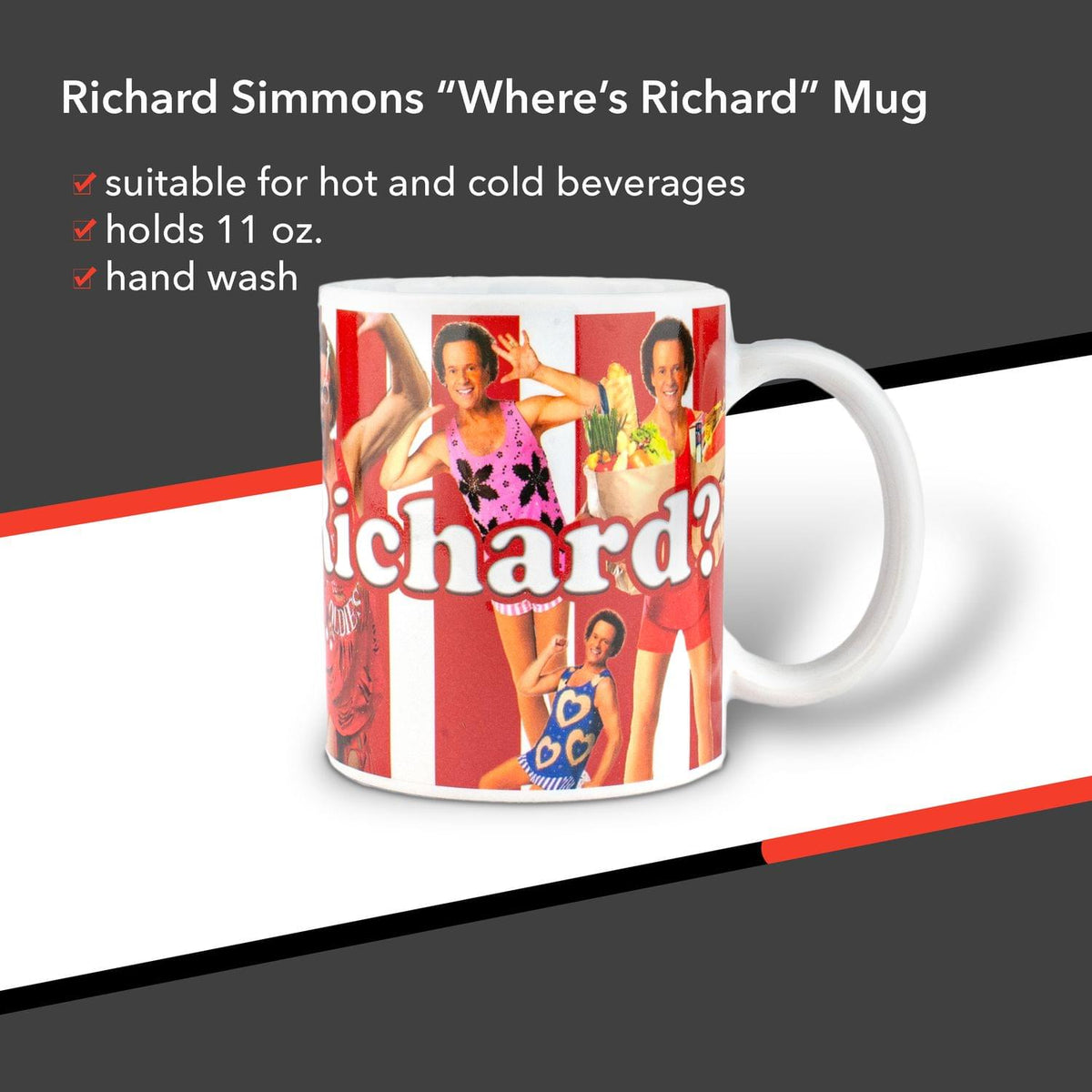 Richard Simmons Where's Richard Mug | 11 Ounces
