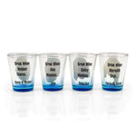Grey's Anatomy Drinking Game | Set Of 4 Character Shot Glasses | 2 Ounces Each