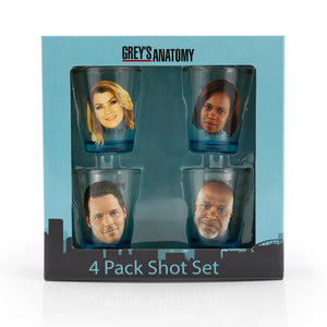 Greys Anatomy Drinking Game Set Of 4 Character Shot Glasses 2 Ounc Toynk Toys