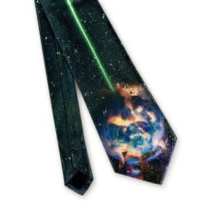 Star Wars Death Star Tie for Men | Death Star Destroying Planet Alderaan