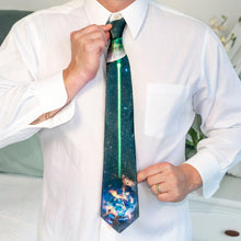 Load image into Gallery viewer, Star Wars Death Star Tie for Men | Death Star Destroying Planet Alderaan
