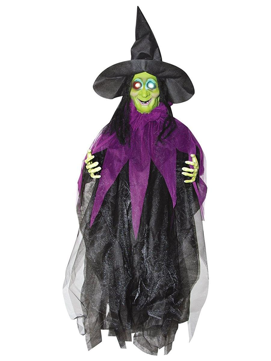 3' Light Up Hanging Witch Halloween Décor