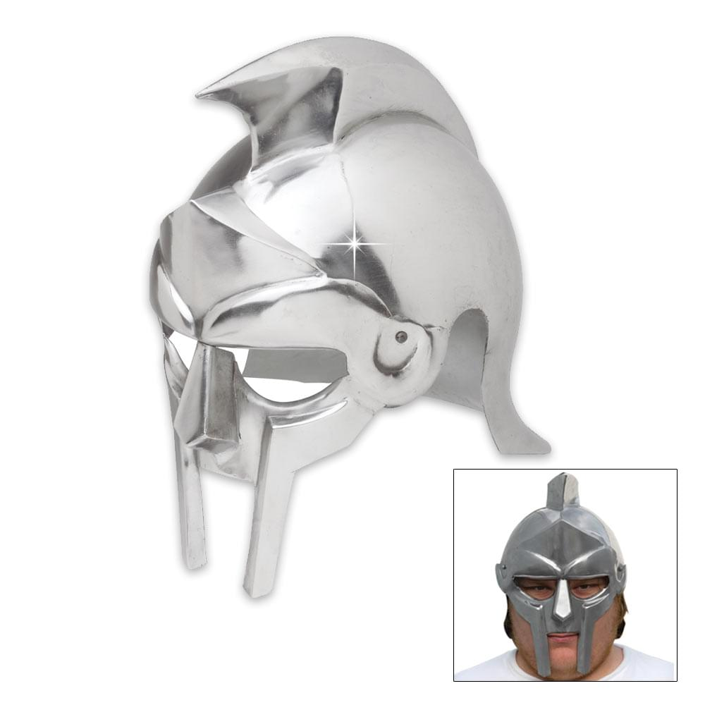 Rhino Armor Gladiator Steel Functional Helmet With Leather Lining