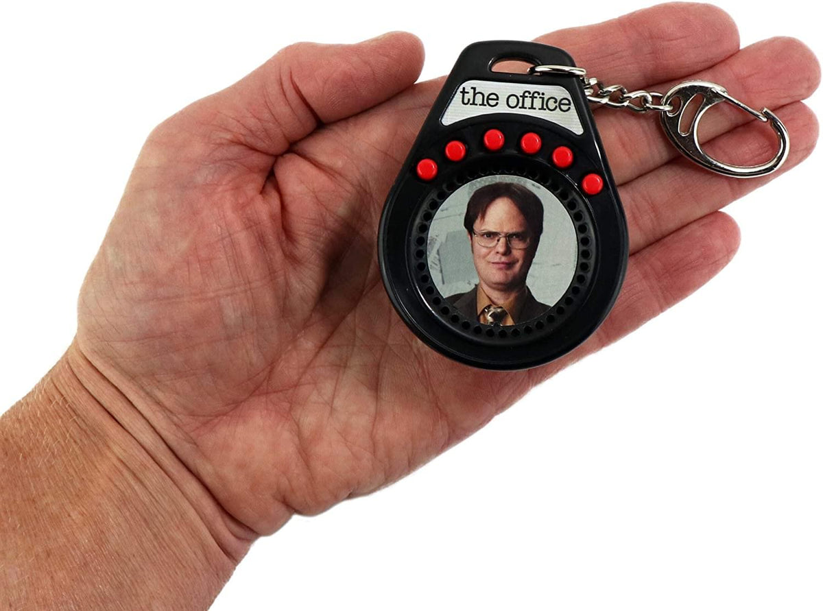 World's Coolest The Office Dwight Talking Keychain | 6 Quotes