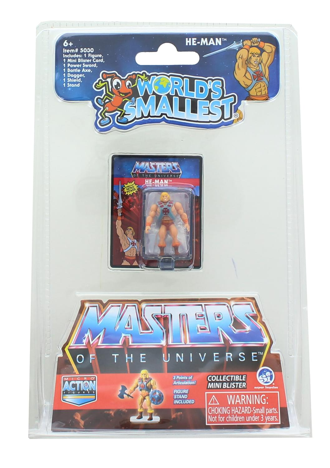 Masters of the Universe World's Smallest Microa Action Figure | He-Man