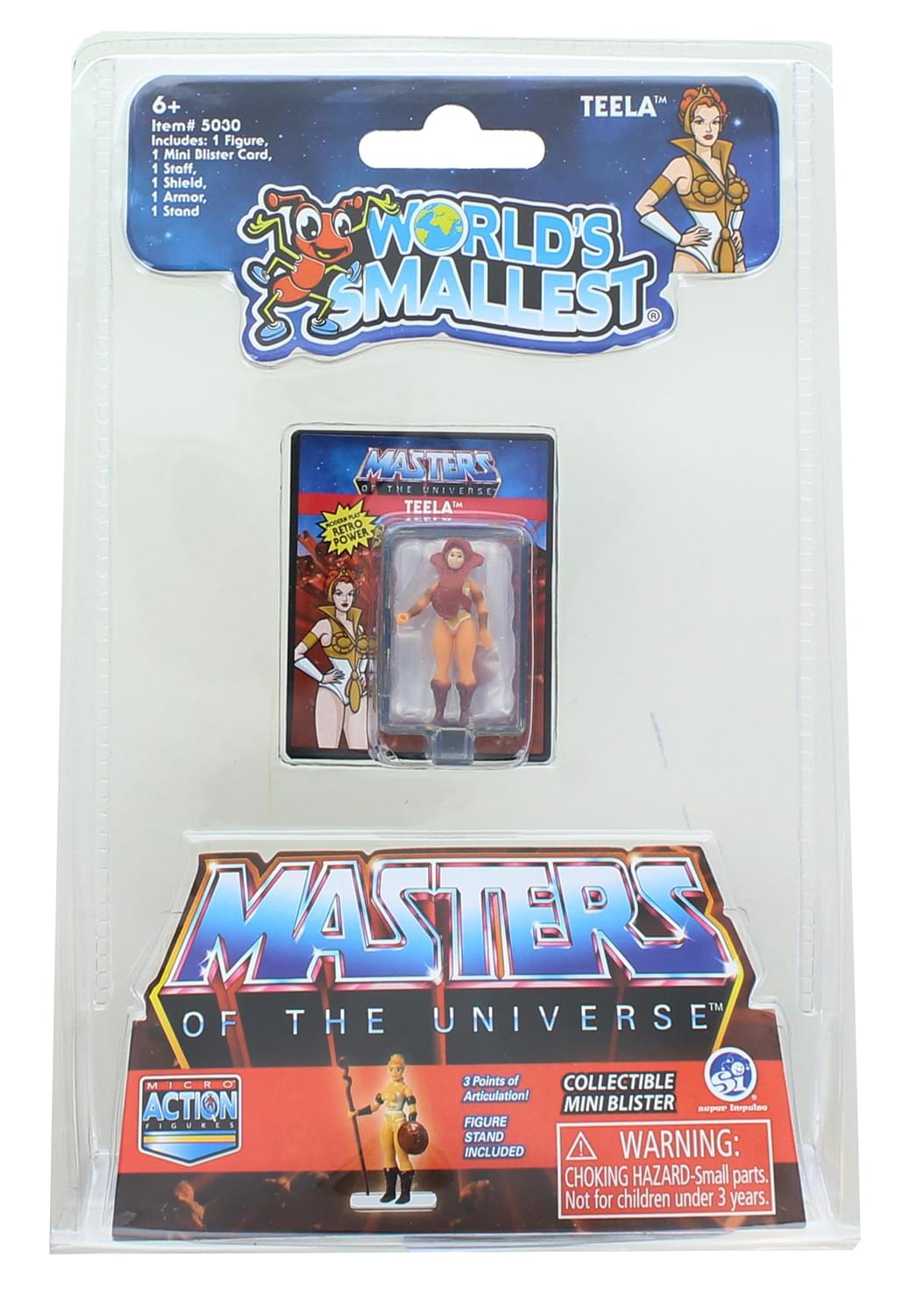 Masters of the Universe World's Smallest Micro Action Figure | Teela