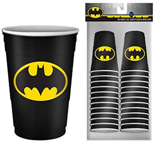 DC Comics Batman Logo 2oz Disposable Plastic Mini Cups | 20 Pack