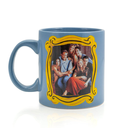 Friends Blue Coffee Cup | Friends Group In Monica's Frame | Holds 20 Ounces
