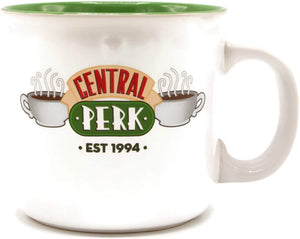 Friends Central Perk Logo White 20oz Ceramic Camper Style Mug