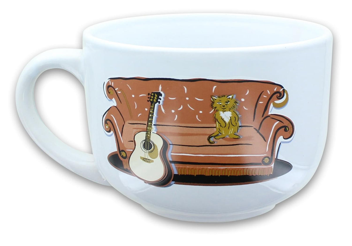 Friends Smelly Cat Central Perk 24oz Ceramic Soup Mug w/ Lid