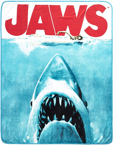 JAWS Movie Poster 50x60 Inch Micro-Plush Throw Blanket