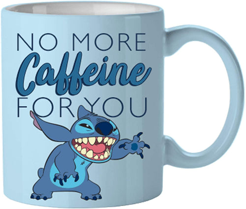Disney Lilo & Stitch No More Caffeine 14oz Ceramic Coffee Mug