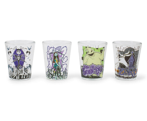 Nightmare Before Christmas Characters 4 Piece Shot Glass Set