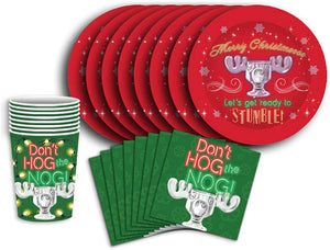 National Lampoons Christmas Vacation 60 Piece Party Tableware Set | Cups | Plates | Napkins