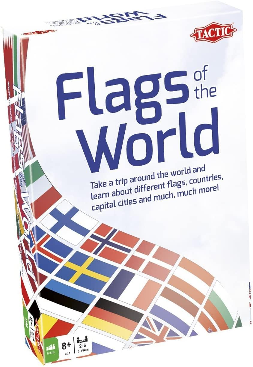 Tactic Games Flags of The World Family Card Game | For 2-6 Players