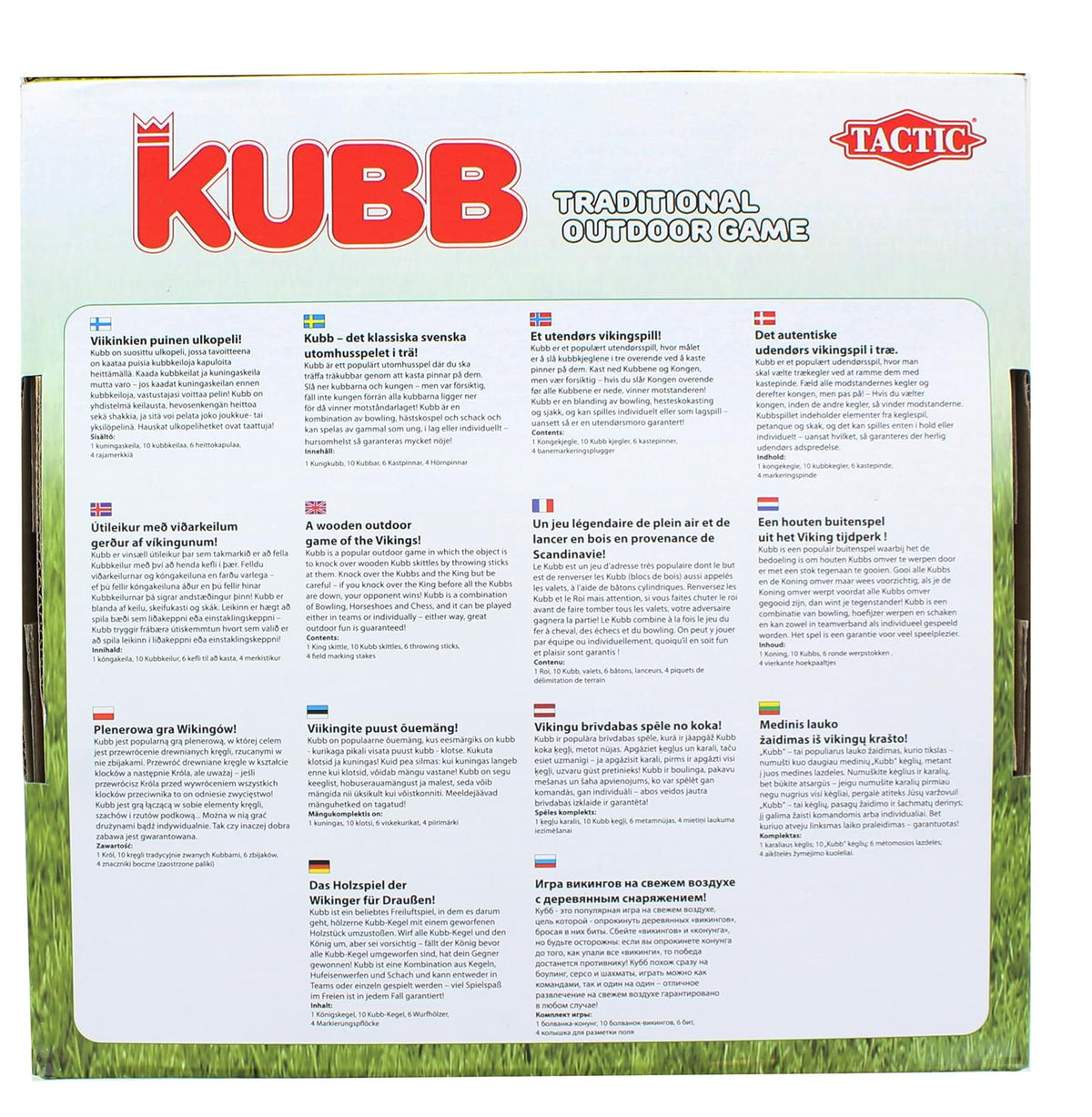 Kubb | Outdoor Wooden Blocks Game | For 2+ Players