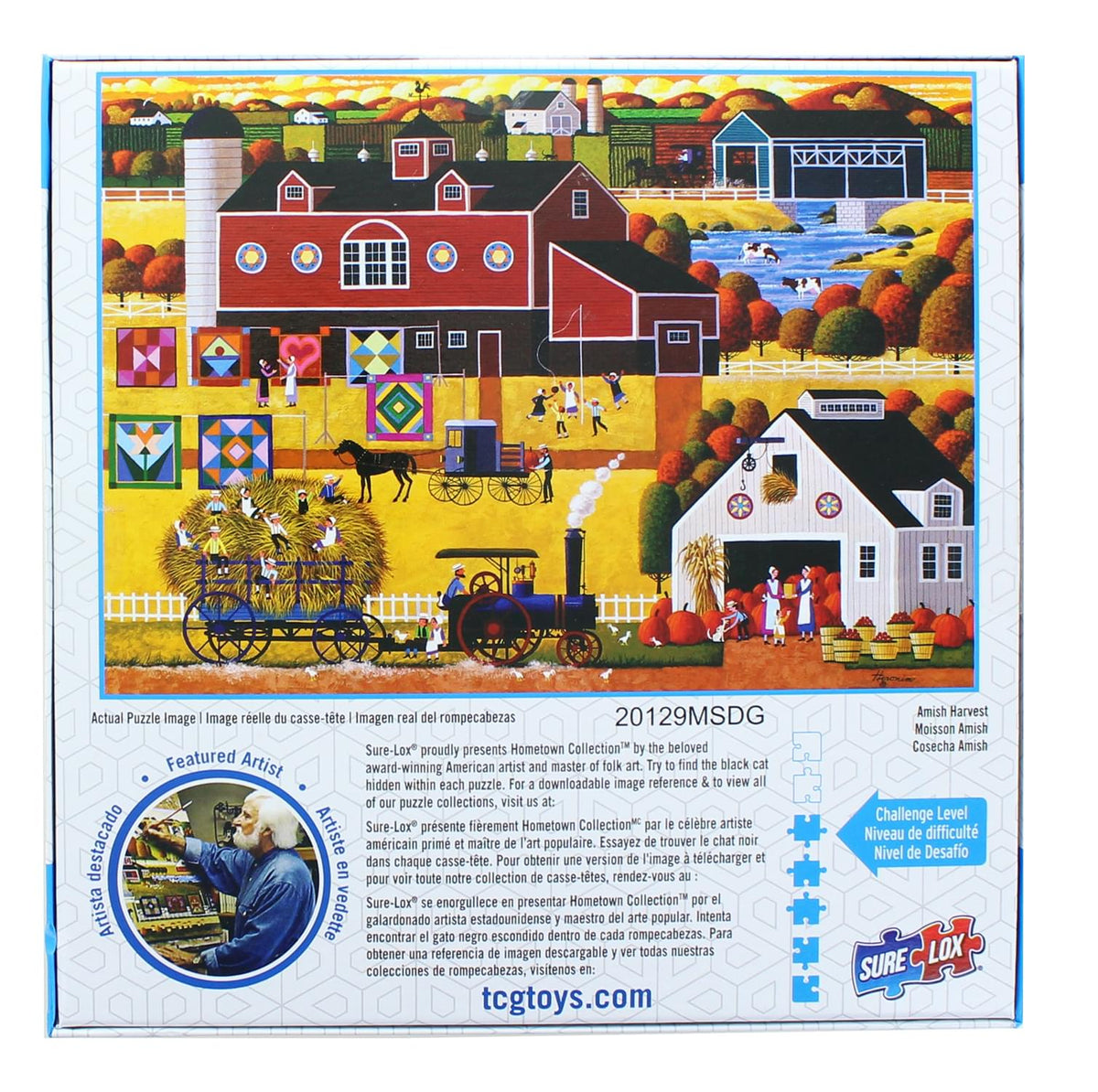 Hometown Collection 1000 Piece Jigsaw Puzzle | Amish Harvest