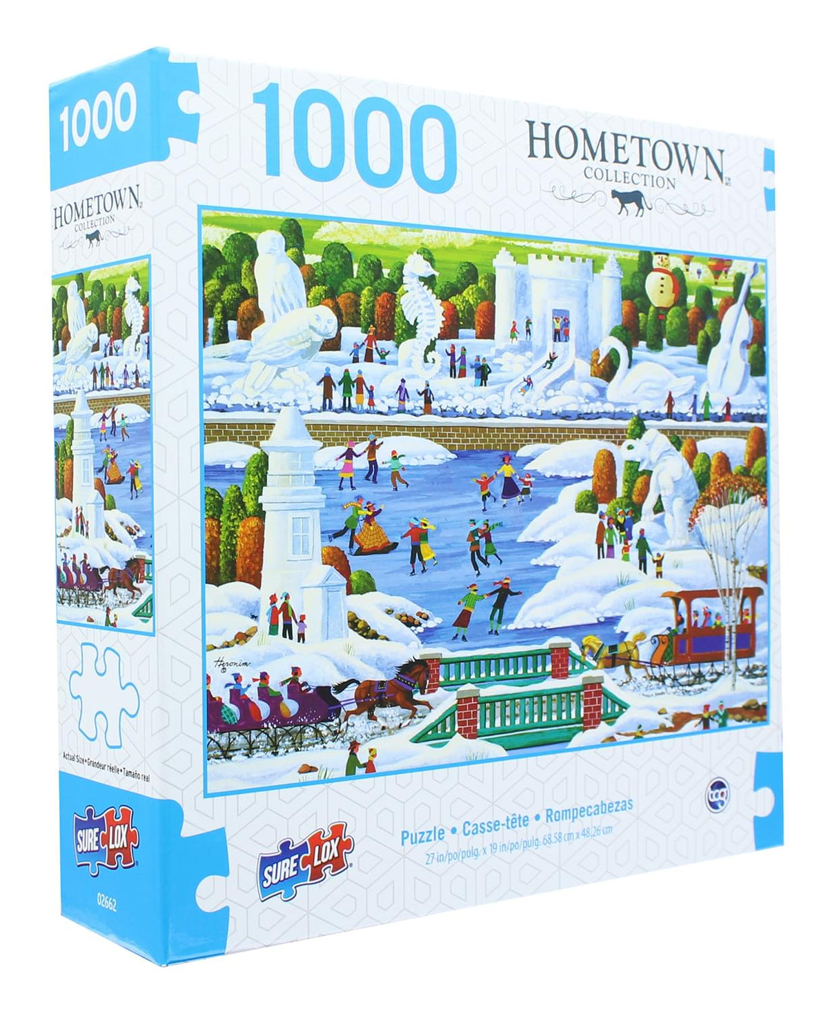 Hometown Collection 1000 Piece Jigsaw Puzzle | Wisconsin Snow Sculptures